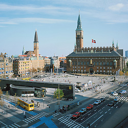 The town hall of Copenhagen was build in 1904, and is the heart of the old city.  Martin Nyrop was the name of the arcitect. The medival town will be at the left side of the photo.