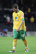 Milton Keynes - Tuesday, August 12th, 2008: Jamie Cureton of Norwich City is dejected after the Carling League Cup First Round match at Stadium MK, Milton keynes. (Pic by Mark Chapman/Focus Images)