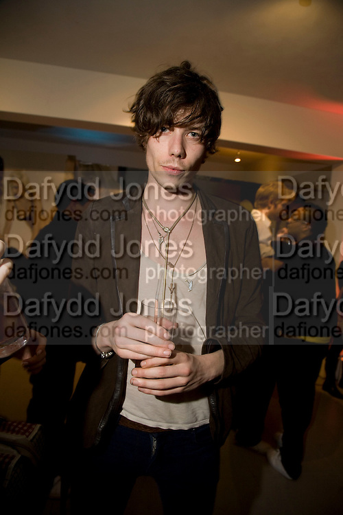 JOE LEAN, A very Private Affair, Agent Provocateur in association with arena magazine. Spring/Summer collection party. Louise T. Blouin Foundation. 3 Olaf St. London. 1 April 2008. *** Local Caption *** -DO NOT ARCHIVE-© Copyright Photograph by Dafydd Jones. 248 Clapham Rd. London SW9 0PZ. Tel 0207 820 0771. www.dafjones.com.