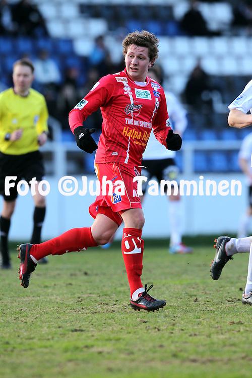 5.5.2012, Tehtaan kentt?, Valkeakoski..Veikkausliiga 2012..FC Haka - FF Jaro..Markus Kronholm - Jaro