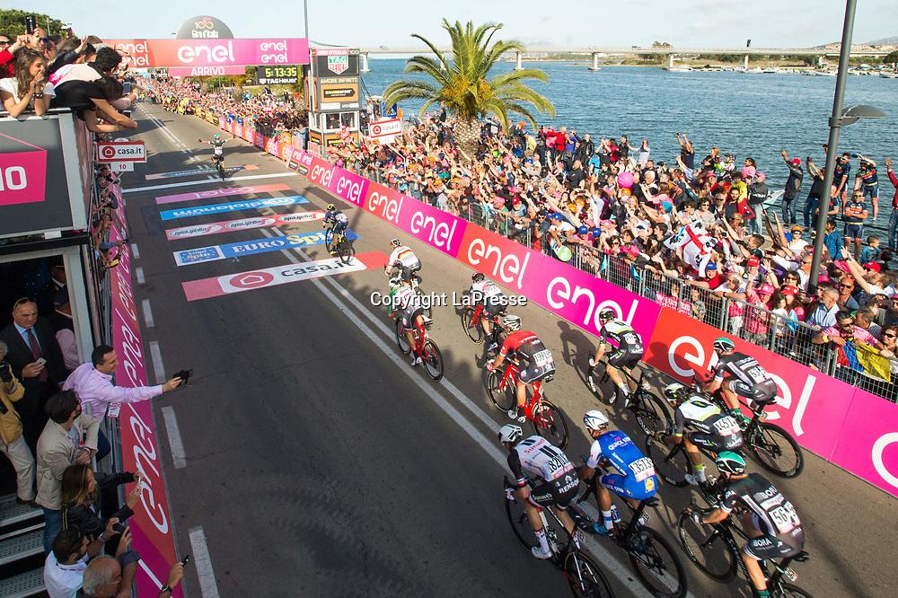 Foto LaPresse - Massimo Paolone<br /> 05/05/2017 Alghero, Sassari  (Italia)<br /> Sport Ciclismo<br /> Giro d'Italia 2017 - 100a edizione -  Tappa 1 - da Alghero a Olbia -  206 km ( 128 miglia )<br /> Nella foto: P&Ouml;STLBERGER Lukas ( AUT )( Bora - Hansgrohe )<br /> <br /> Photo LaPresse - Massimo Paolone<br /> 05/05/2017 Alghero, Sassari ( Italy ) <br /> Sport Cycling<br /> Giro d'Italia 2017 - 100th edition -  Stage 1 -   Alghero to Olbia -  206 km ( 128 miles )<br /> In the pic: P&Ouml;STLBERGER Lukas ( AUT )( Bora - Hansgrohe )