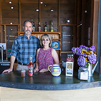 Renuncible Cider in Mosier, Oregon (owners Robert Miller and Kelly McCune)