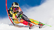 Lake Louise, Alberta, November 25, 2012:  Canadian Cowboy John Kucera competes in his comeback race following a three-year absence the World Cup circuit after sustaining an injury at Lake Louise in 2009.