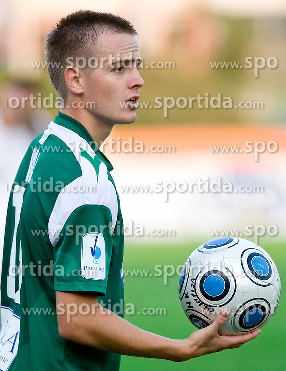 Rok Roj of Olimpija  at football match between NK Olimpija vs Hit Gorica in 11th Round of Prva liga 2009 - 2010,  on September 27, 2009, in ZSD Ljubljana, Ljubljana, Slovenia.  (Photo by Vid Ponikvar / Sportida)