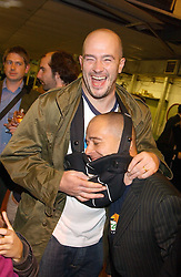Top to bottom, artist brothers JAKE CHAPMAN and DINOS CHAPMAN at an opening party for artist Paul McCarthy's exhibition 'LaLa Land Parody Paradise' held at the Whitechapel Gallery, 80-82 Whitechapel High Street, London E1 on 22nd October 2005.<br /><br />NON EXCLUSIVE - WORLD RIGHTS