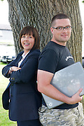 Ann Heneghan, (Solicitors Heneghan & Assoc., Joyce House Galway,) and Richard Conroy, Web Activator . Photo:Andrew Downes.