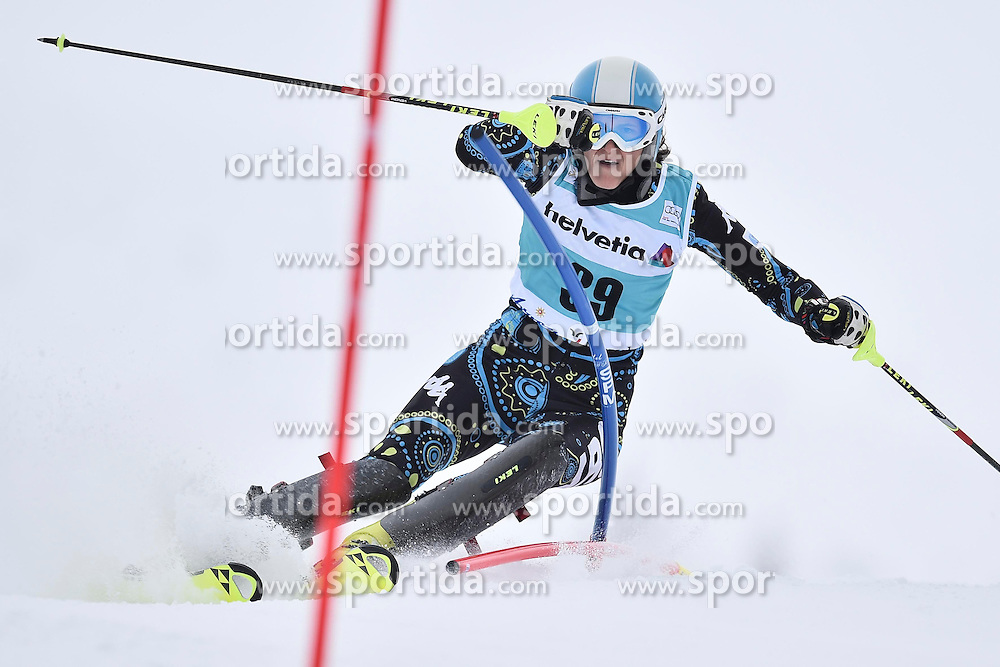 13.03.2016, Pista Silvano Beltrametti, Lenzerheide, SUI, FIS Weltcup Ski Alpin, Lenzerheide, Superkombination, Slalom, Damen, im Bild Macarena Simari Birkner (ARG) // during ladie's Supercombi, Slalom Race of Lenzerheide FIS Ski Alpine World Cup at the Pista Silvano Beltrametti in Lenzerheide, Switzerland on 2016/03/13. EXPA Pictures &copy; 2016, PhotoCredit: EXPA/ Freshfocus/ Manuel Lopez<br /> <br /> *****ATTENTION - for AUT, SLO, CRO, SRB, BIH, MAZ only*****