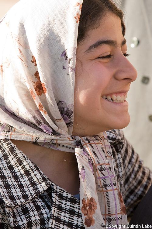 Iranian girl wearing headscarf Shiraz, Iran