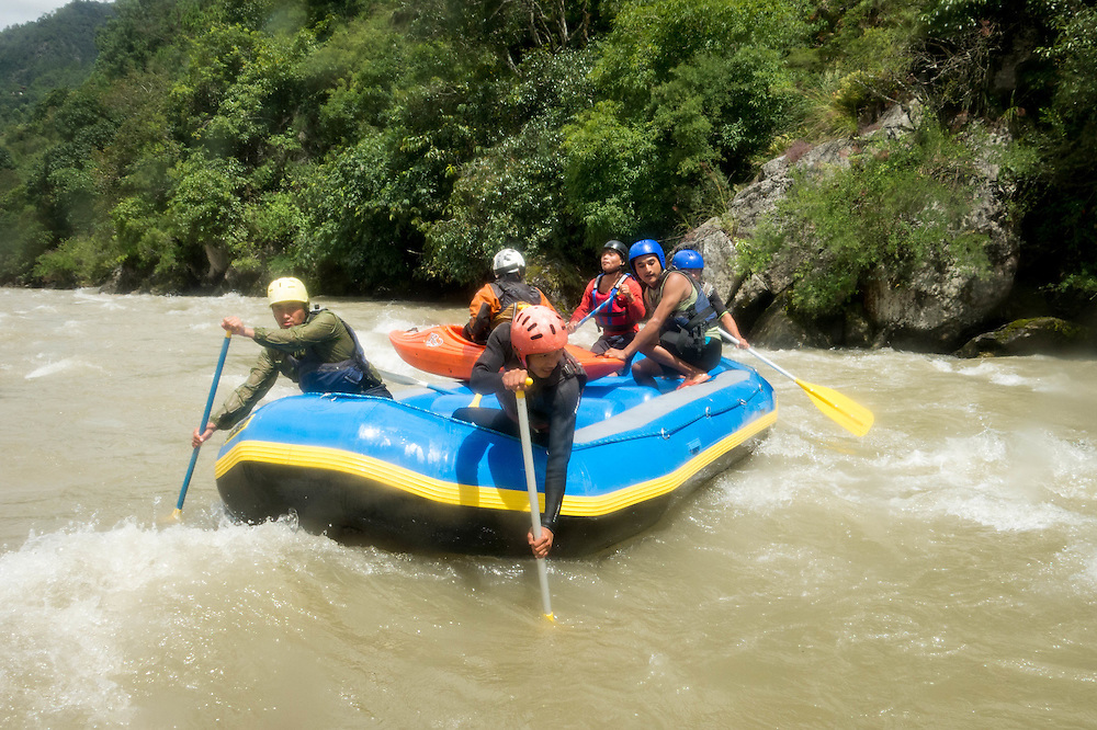 rafting, bhutan <br />