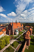 Catholic gothic cathedral in Frombork Poland where Nicolaus Copernicus is buried photo Piotr Gesicki
