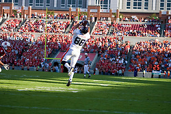 Virginia tight end Jonathan Stupar (88) comes down with a quarterback Jameel Sewell (10) pass in the first half.   The North Carolina State Wolfpack defeated the #15 Virginia Cavaliers 29-24 at Carter Finley Stadium in Raleigh, NC on October 27, 2007.