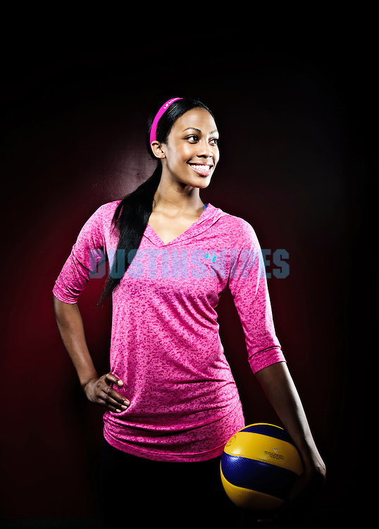 Olympic volleyball player Kim Glass poses for a portrait near Anaheim California on June 6, 2011.