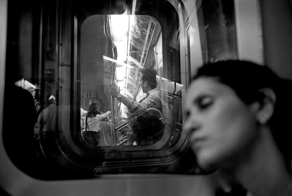 New York, New York. 2005..Subway car...I See A Darkness, '05. An Essay on Individuality and Loneliness in the Big City.