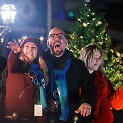 NLD/Amstelveen/20181222 - SBS Kerstparade 2018, Kim Kotter en Maik de Boer en Celine Huijsman