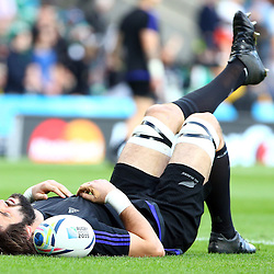 LONDON, ENGLAND - OCTOBER 31: Sam Whitelock of New Zealand during the Rugby World Cup Final match between New Zealand vs Australia Final, Twickenham, London on October 31, 2015 in London, England. (Photo by Steve Haag)
