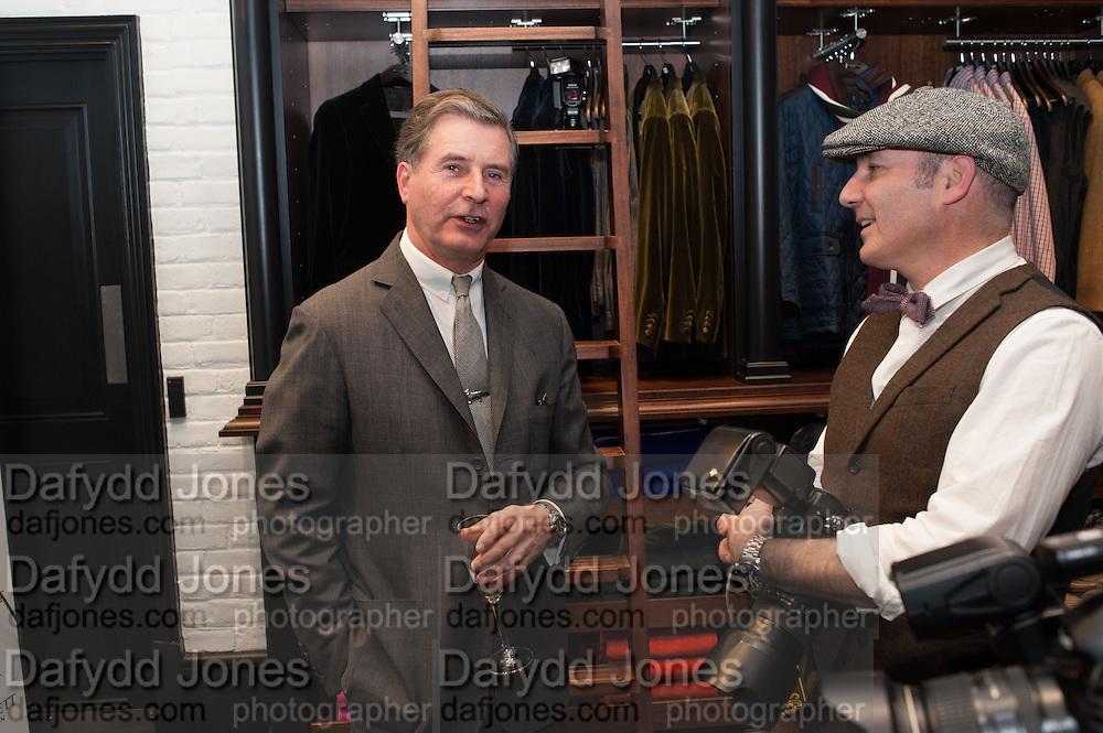 JEREMY HACKETT; JAMES MACAULAY, Opening of new Hackett flagship store. Regent St. London. 28 November 2013.