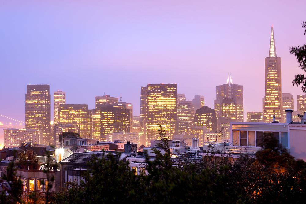 Skyline of Financial district, San Francisco, California, USA