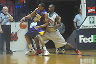 "Louisiana State's Storm Warren (24) is defended by Ole Miss forward Terrance Henry (1) at the C.M. ""Tad"" Smith Coliseum in Oxford, Miss. on Wednesday, February 9, 2011. Ole Miss won 66-60 and is now 4-5 in the Southeastern Conference."