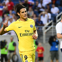 Joy for Edinson Cavani of PSG as he puts his side 1-0 ahead during the International Champions Cup match between Paris Saint Germain and Tottenham Hotspur on July 22, 2017 in Orlando, United States. (Photo by Dave Winter/Icon Sport)