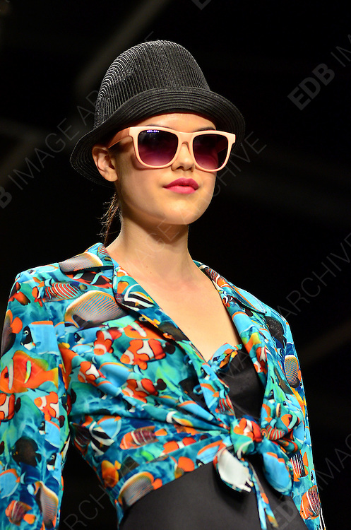 14.SEPTEMBER.2012. LONDON<br /> <br /> THE CAROLINE CHARLES LONDON FASHION WEEK CATWALK SHOW.<br /> <br /> BYLINE: EDBIMAGEARCHIVE.CO.UK/JOE ALVAREZ<br /> <br /> *THIS IMAGE IS STRICTLY FOR UK NEWSPAPERS AND MAGAZINES ONLY*<br /> *FOR WORLD WIDE SALES AND WEB USE PLEASE CONTACT EDBIMAGEARCHIVE - 0208 954 5968*