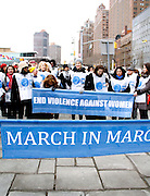 Kelly Rutherford attends the March To End Violence Against Women at the United Nations Headquarters in New York City, New York on March 07, 2014.