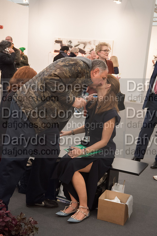 JOHNNY PIGOZZI; JULIA ZAOUK, Opening of Frieze , Regents Park, London 12 October 2015