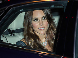 The Duchess of Cambridge departs in her car after attending the Portrait Gala 2014 at the National Portrait Galley, London, United Kingdom. Tuesday, 11th February 2014. Picture by i-Images
