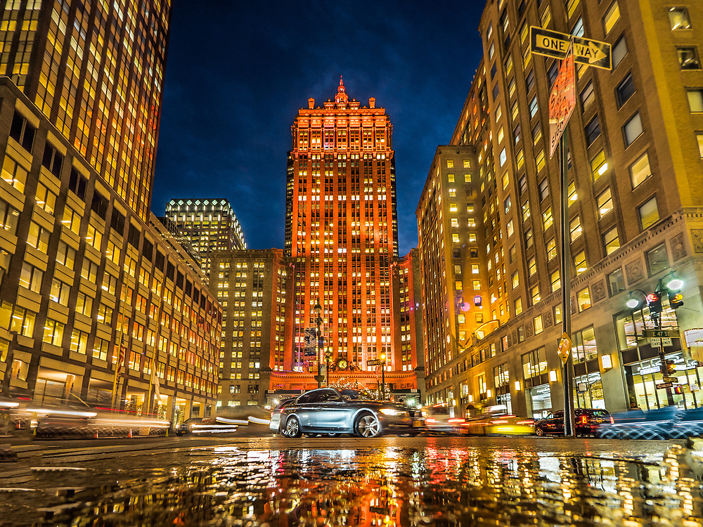 The Helmsley Building appears in orange color