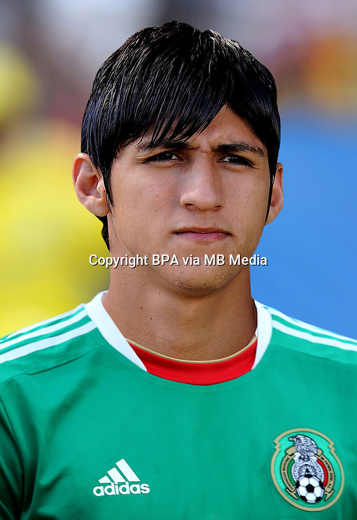 Football Fifa Brazil 2014 World Cup / <br /> Mexico National Team - <br /> Alan Pulido of Mexico