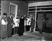 24/10/1960<br /> 10/24/1960<br /> 24 October 1960<br /> Most Rev. Dr. John Charles McQuaid, Archbishop of Dublin and Primate of Ireland blessing the new St Augustine School for children with special needs run by St John of God Brothers in Blackrock, Dublin.