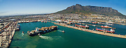 Aerial view of Cape Town Port