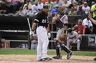 CHICAGO - JULY 10:  Carlos Quentin #20 of the Chicago White Sox reacts after striking out against the Minnesota Twins on July 10, 2011 at U.S. Cellular Field in Chicago, Illinois.  The Twins defeated the White Sox 6-3.  (Photo by Ron Vesely)  Subject: Carlos Quentin