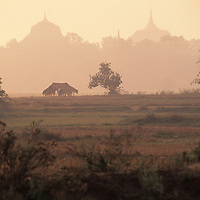 landscape outside of Bago, temples in distance