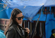 NOV 01 2013 Demi Moore visit to McLeod Ganj in India