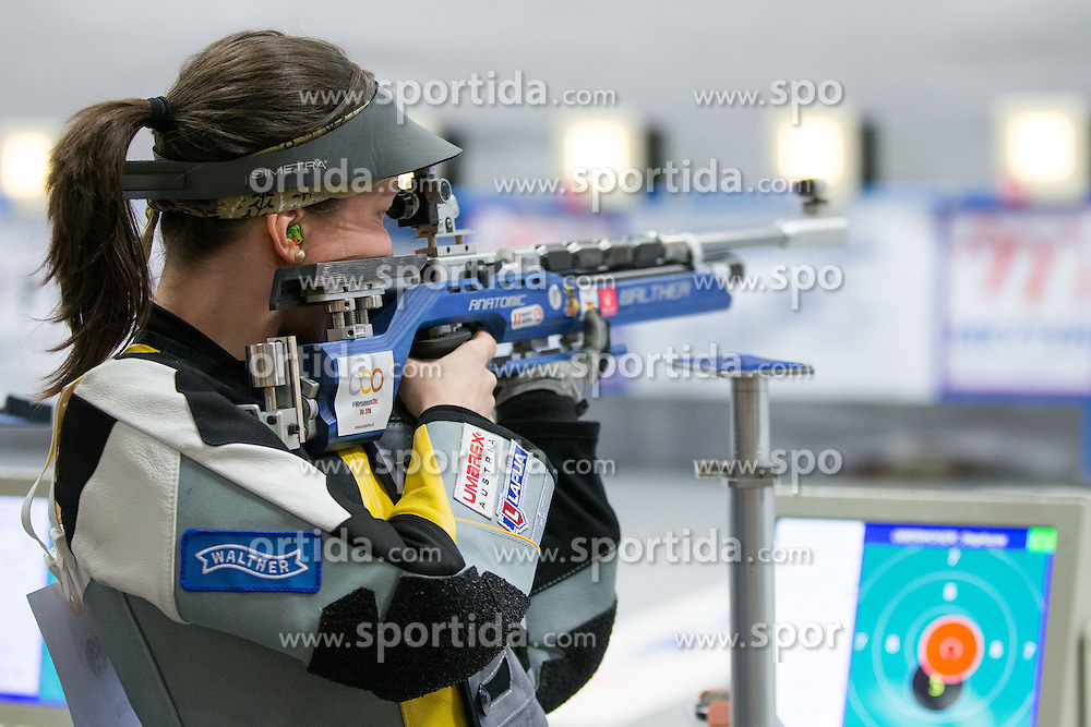 19.03.2016, Arena Kufstein, Kufstein, AUT, Österreichische Meisterschaften für Luftdruckwaffen, Damen, im Bild Stephanie Obermoser (AUT) // Stephanie Obermoser of Austria during the Austrian Womens Championships for airguns at Arena Kufstein in Kufstein, Austria on 2016/03/19. EXPA Pictures © 2016, PhotoCredit: EXPA/ Johann Groder