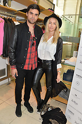 SEAN TEALE and EMMA LOU CONNOLLY at a party to celebrate the launch of French Connection's #CANTHELPMYSELFIE -The UK's first in-store interactive selfie booths and windows held at French Connection, 249-251 Regent Street, London on 15th April 2014.