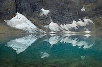 Drift glaciers along the Rockwall, Floe Lake, Kootenay National Park British Columbia