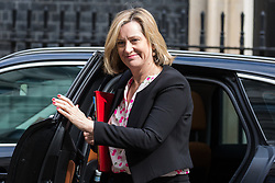 London, UK. 30th April 2019. Amber Rudd MP, Secretary of State for Work and Pensions, arrives at 10 Downing Street for a Cabinet meeting.