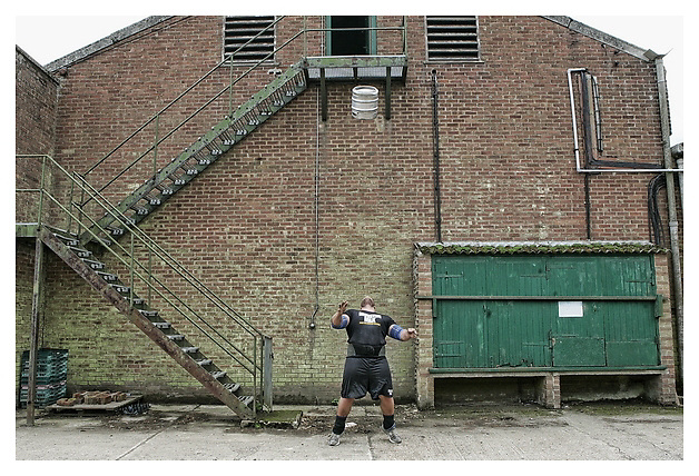 Interview and photo shoot with Worlds Strongest Man contestant Terry Hollands.