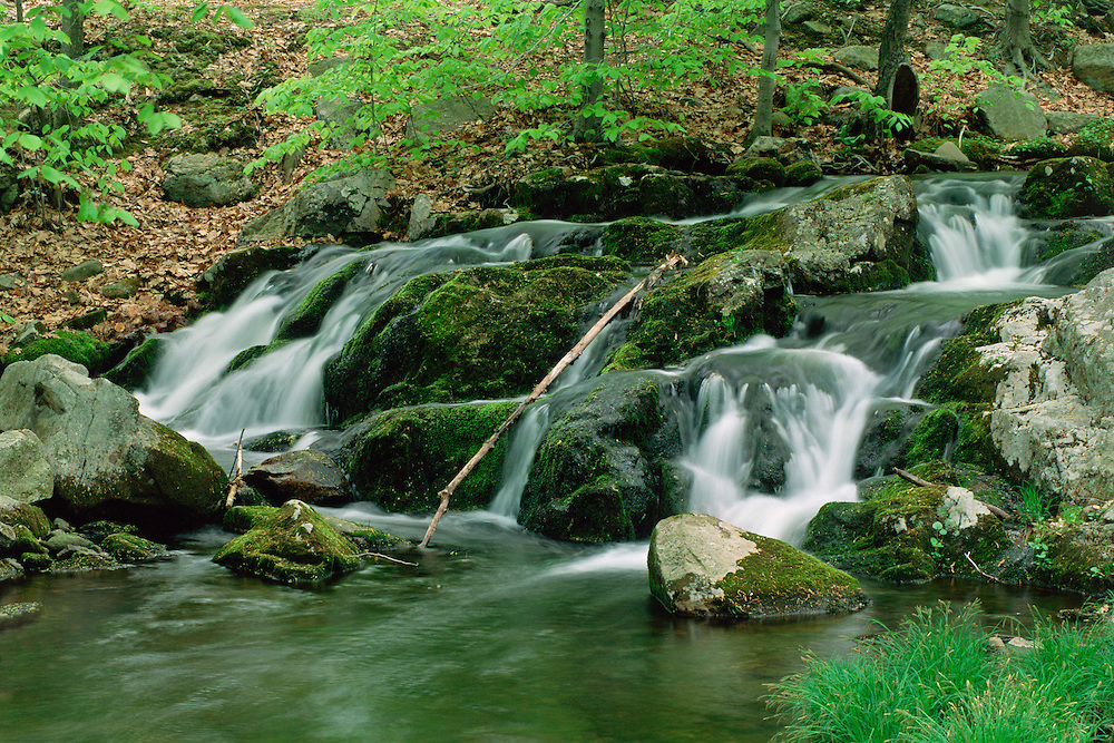 Harriman State Park, Stream with waterfall,  Rockland County, New York