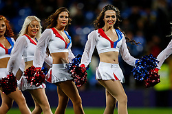 The Crystals Cheerleaders entertain the crowd at Selhurst Park - Mandatory byline: Jason Brown/JMP - 07966386802 - 23/09/2015 - FOOTBALL - London - Selhurst Park - Crystal Palace v Charlton Athletic - Capital One Cup - Third Round