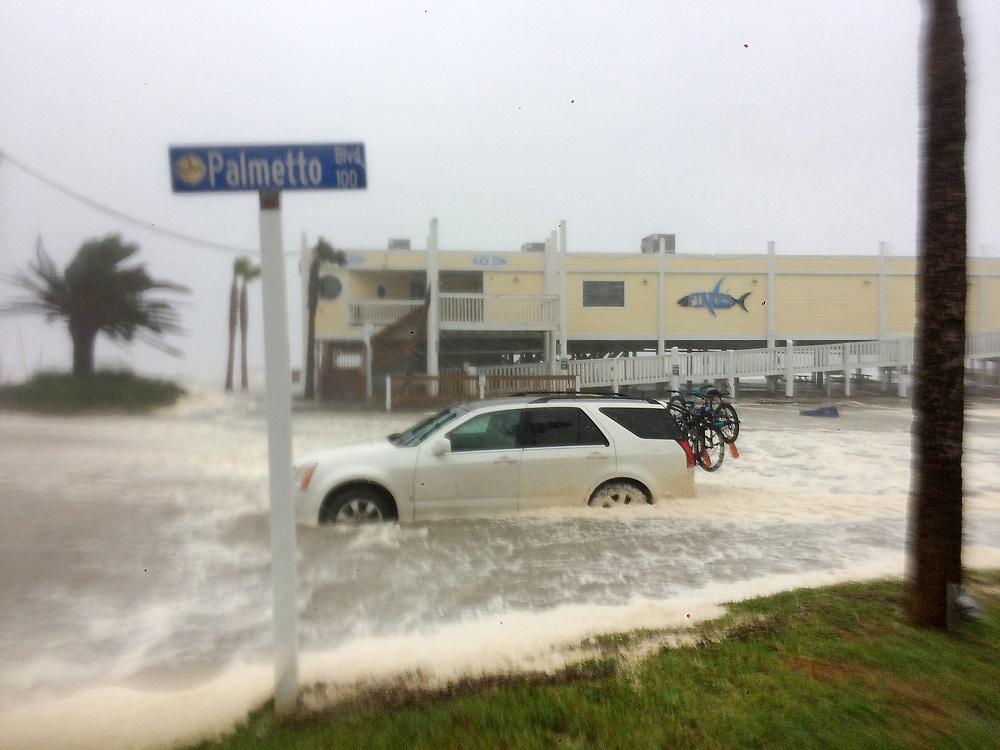Storm surge inundates Edisto Beach two hours before the height of the Atlantic Ocean's intrusion into the streets of the Colleton County community on Monday during Hurricane Irma. Andrew Knapp/Staff