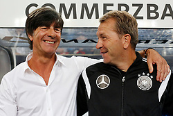 "03.09.2014, Esprit-Arena, Duesseldorf, GER, FS Vorbereitung, Fussball Testspiel, Deutschland vs Argentinien, im Bild National-, Bundestrainer Joachim ""Jogi"" Loew und Torwart-Trainer Andreas Koepke // during a international football frindly match between Germany and Argentina in preparation for the upcoming EURO 2016 qualifying matches at the Esprit-Arena in Duesseldorf, Germany on 2014/09/03. EXPA Pictures © 2014, PhotoCredit: EXPA/ Eibner-Pressefoto/ Schueler<br /> <br /> *****ATTENTION - OUT of GER*****"