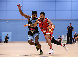 Lewis Champion of Bristol Flyers drives with the ball - Photo mandatory by-line: Arron Gent/JMP - 28/04/2019 - BASKETBALL - Surrey Sports Park - Guildford, England - Surrey Scorchers v Bristol Flyers - British Basketball League Championship