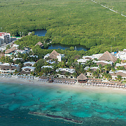 Aerial view of the Desire Resort & Spa Riviera Maya. Mexico