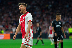 13-08-2019 NED: UEFA Champions League AFC Ajax - Paok Saloniki, Amsterdam<br />  Ajax won 3-2 and they will meet APOEL in the battle for a group stage spot / Klaas Jan Huntelaar #9 of Ajax