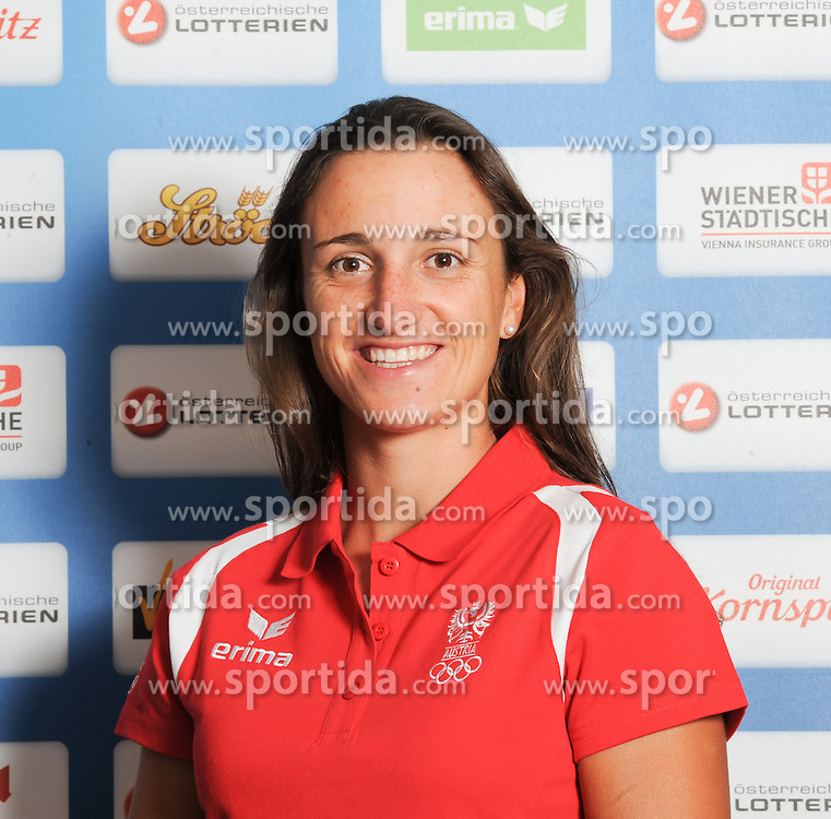 17.07.2016, Hotel Mariott, Wien, AUT, Olympia, Rio 2016, Einkleidung OeOC, im Bild Vadlau Lara (Segeln) // during the outfitting of the Austrian National Olympic Committee for Rio 2016 at the Hotel Mariott in Wien, Austria on 2016/07/17. EXPA Pictures © 2016, PhotoCredit: EXPA/ Erich Spiess