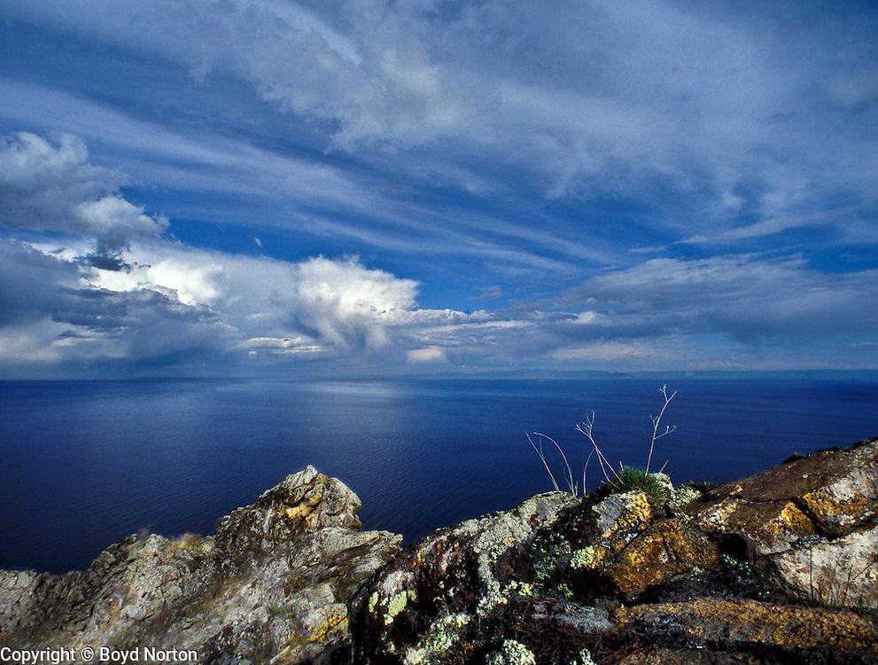 Lake Baikal, Pribaikalsky National park. Aya Bay.