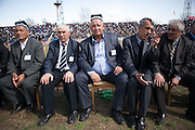 Judges at a wrestling match. Dushanbe.