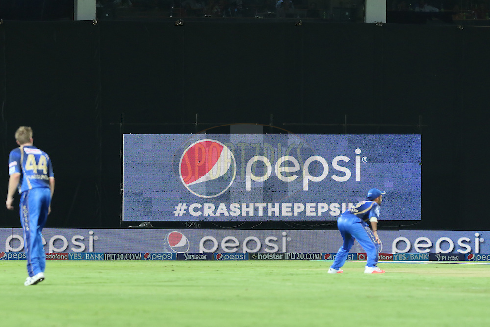 GV, branding during match 11 of the Pepsi IPL 2015 (Indian Premier League) between The Sunrisers Hyderabad and The Rajasthan Royals held at the ACA-VDCA Stadium in Visakhapatnam India on the 16th April 2015.<br /> <br /> Photo by:  Saikat Das / SPORTZPICS / IPL